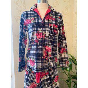 Betsy Johnson 2pc Fleece Pajamas Small